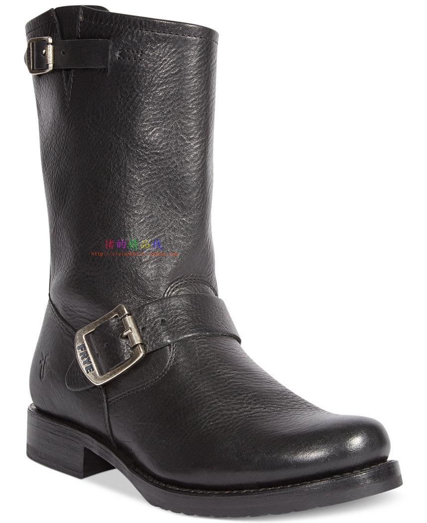 国内现货 FRYE veronica slouch 美国采购 明星款 软皮中高筒靴