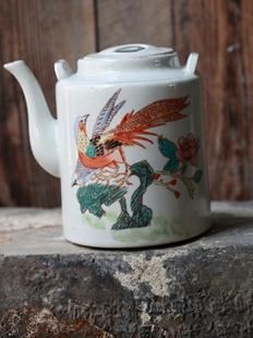 包邮 包真 文革时期678十年代景德镇瓷器手绘茶壶老物件老茶壶包老