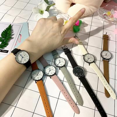 韩版文艺风手表女闺蜜学生简约时尚小表盘气质经典复古情侣石英表多少钱