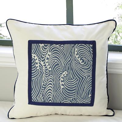 现代中式古典青花瓷沙发靠垫/抱枕/靠枕/腰枕/方枕/扶手枕蒲团垫