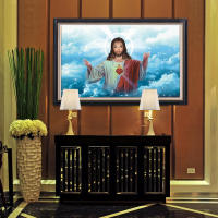 Hot section of the Lord Jesus portrait hanging cross-stitch paintings diamonds church gifts living room base