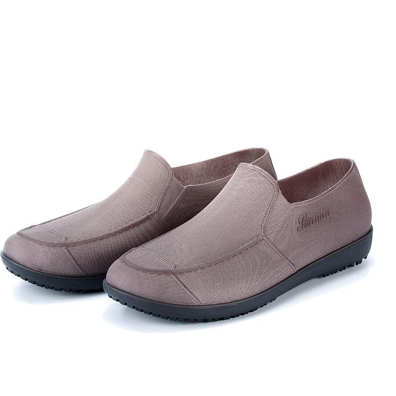 雨鞋男低帮平底防滑厨师鞋防水防油雨靴短筒成人套鞋水鞋