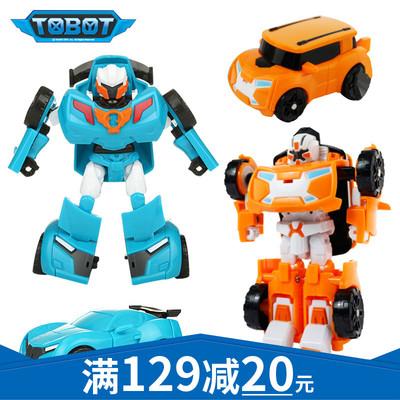 凯利特托宝兄弟迷你X汽车人y儿童变形金刚玩具机器人tobot组合r