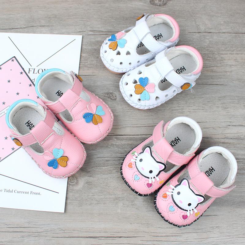新品防滑软底婴儿学步单鞋1 2岁女宝宝鞋子牛皮透气新生儿公主鞋