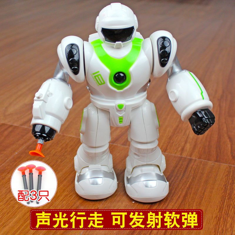 Electric Robot Children Toys Boys Can Launch Robots Walking