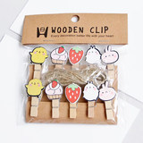 Ins photo wall small wooden clip cute decorations net red room kindergarten dormitory classroom DIY photo folder