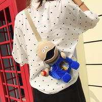 Chuck doll shoulder bag 2018 new funny small bag girl cartoon cute personality 蹦di 挎 挎 chest bag