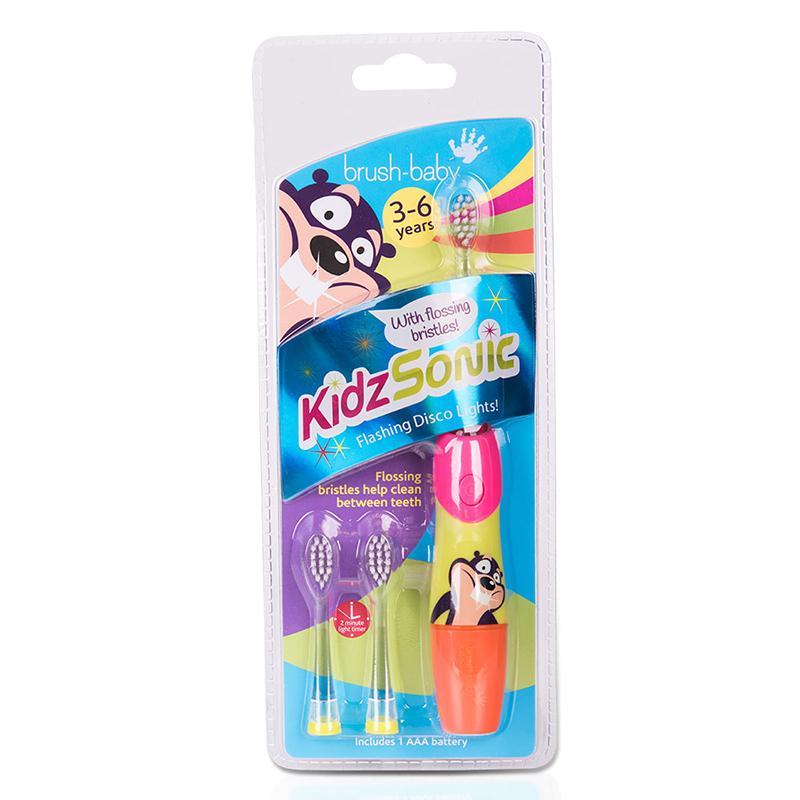 英国牙科专家强烈推荐0-3岁BRUSH BABY BABYSONIC电动牙刷带2刷头