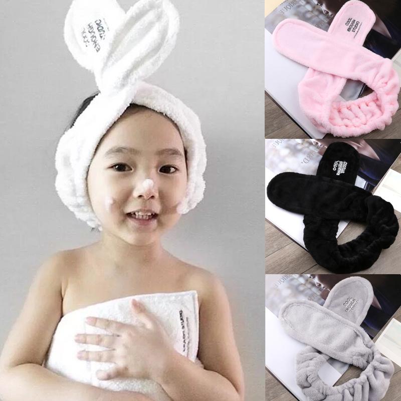韩版超大甜美毛绒兔耳朵发箍.