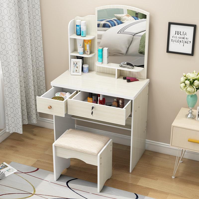 卧室梳妆台 经济型 小户型迷你现代简约化妆桌迷你60cm简易化妆台