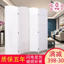 Salle de séjour à lécran de Chine chambre à coucher entrée économique pliant mobile simple moderne en bois massif petit appartement décoration de cloison