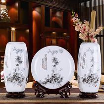 1免5你花瓶陶瓷陶瓷花器茶桌花瓶粗陶禅意中式插花买