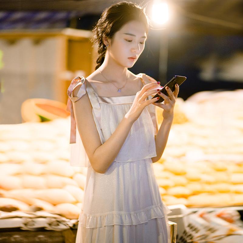 雪纺连衣裙女夏仙