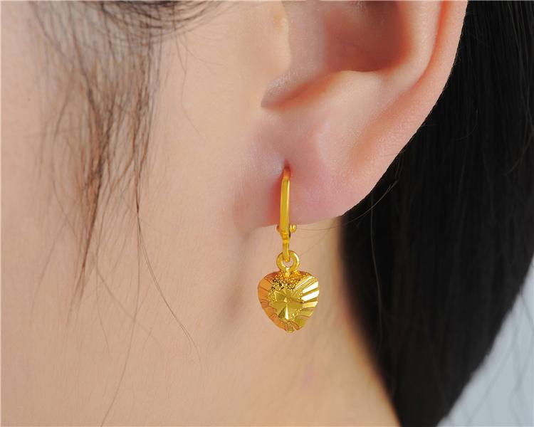 纯黄金耳坠