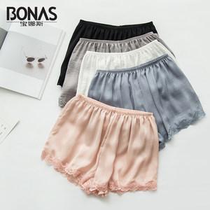 2条宝娜斯安全裤防走光女生夏季可内外穿蕾丝薄款打底裤保险短裤