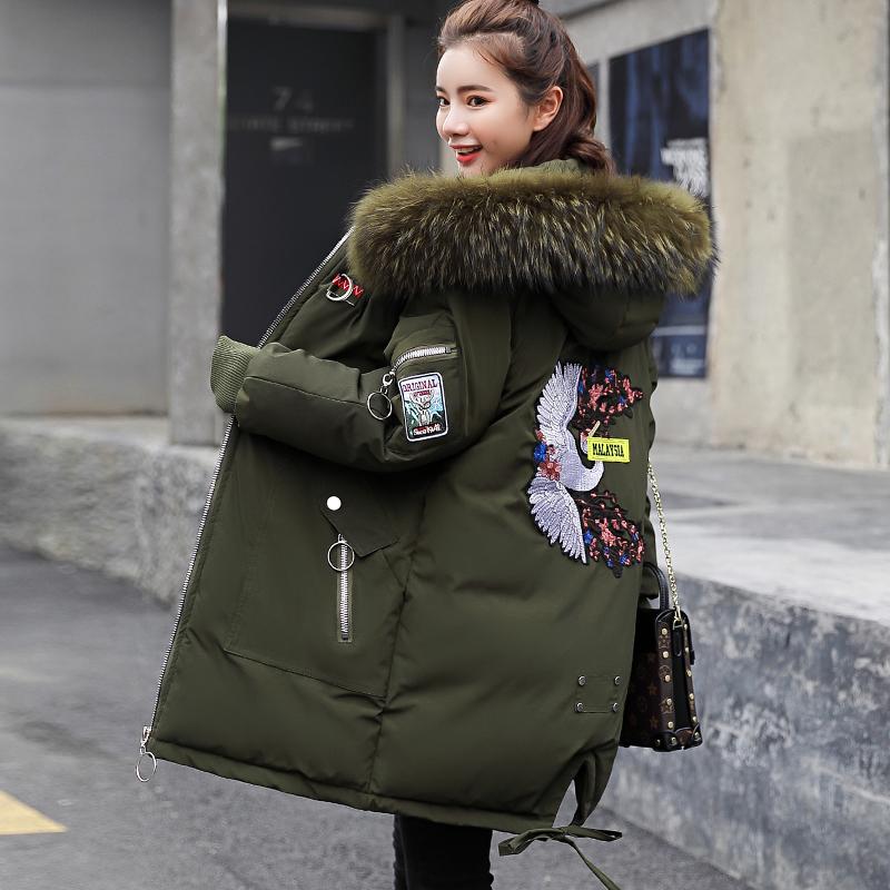 反季特价棉衣女韩版中长款宽松加厚加大码面包服学生棉袄外套棉服