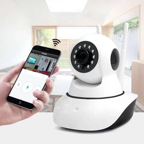 家用无线监控摄像头可WIFI百万像素监控器夜视网络摄像机手机远程