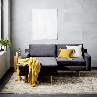 北欧实木家具 小户型创意双人三人沙发组合 贵妃椅L型转角沙发