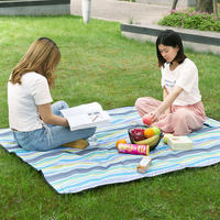 Outdoor portable floor mat picnic mat moisture pad foldable picnic cloth spring tour mat Oxford cloth waterproof picnic