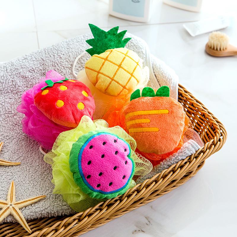 居家家洗澡浴花儿童沐浴球洗澡球洗浴用品起泡澡花浴擦可爱沐浴花