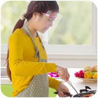 Home Home Transparent smokeproof cooking rice cooking face mask Kitchen cooking cooking oil splash protection mask
