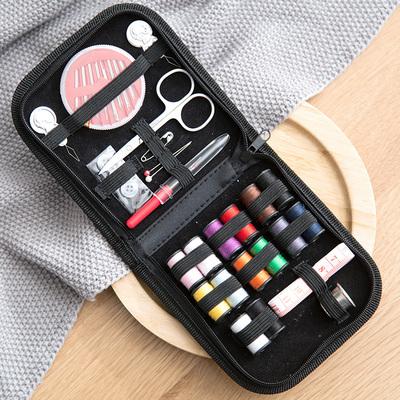 居家家 手工缝纫工具针线盒10件套装 家用便携缝补针线盒子针线包
