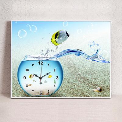 现代客厅餐厅欧式简约挂钟电表箱遮挡箱钟表壁画挂画墙壁装饰挂件