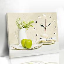 现代客厅餐厅表装饰画免打孔简约电表箱挂画创意钟表墙画壁画挂钟