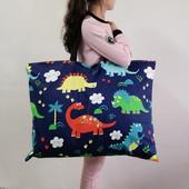 幼儿园被子包被褥袋棉布卡通印花帆布整理收纳包手提包可水洗