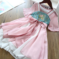 Elegant ya ~ girls retro Hanfu skirt Chinese children's improved 襦 skirt dress chiffon skirt 19 summer new