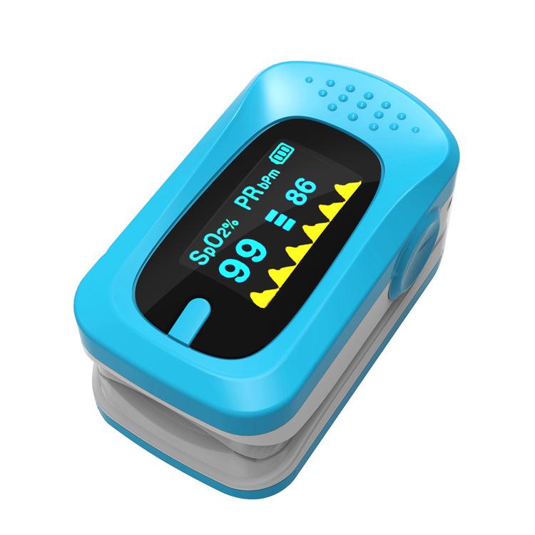 血氧仪手指式脉搏血氧饱和度检监测仪指脉氧计心率仪 指夹血氧仪