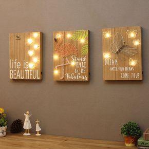 美式乡村客厅墙面火烈鸟木板画酒吧咖啡厅壁挂装饰儿童房墙饰创意