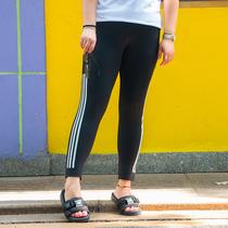 糖糖大码女装尚瘾2017新款条纹长款哈伦裤180斤休闲运动裤女4106