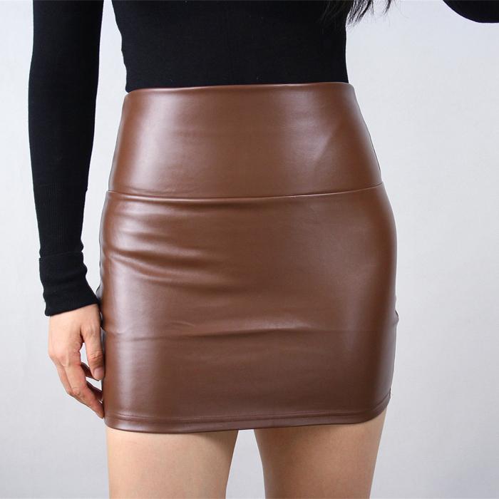水洗皮超短裙