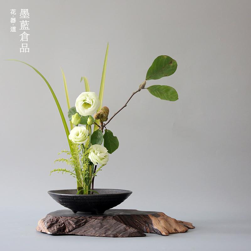 日式插花花盆