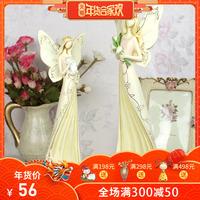 欧式浪漫复古天使创意蜡烛台餐厅摆件卧室家具家居装饰品工艺品