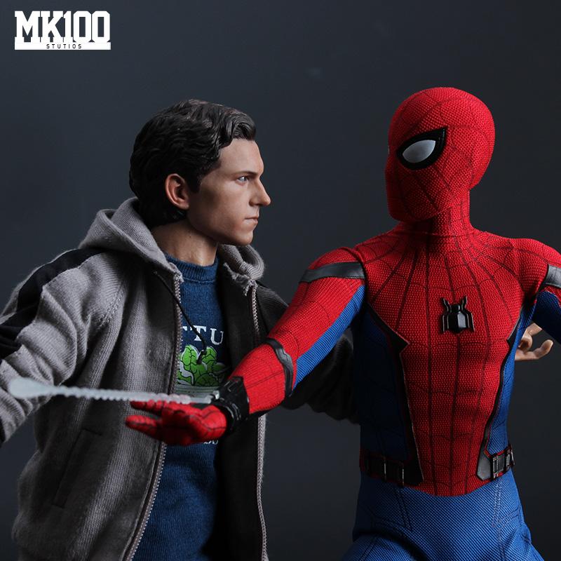 【现货MK100】复联3蜘蛛侠小虫彼得荷兰弟人偶模型便服外套衣牛仔