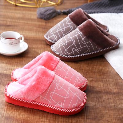 棉拖鞋女冬季室内外居家居保暖厚底男情侣防滑毛毛拖9.9元包邮