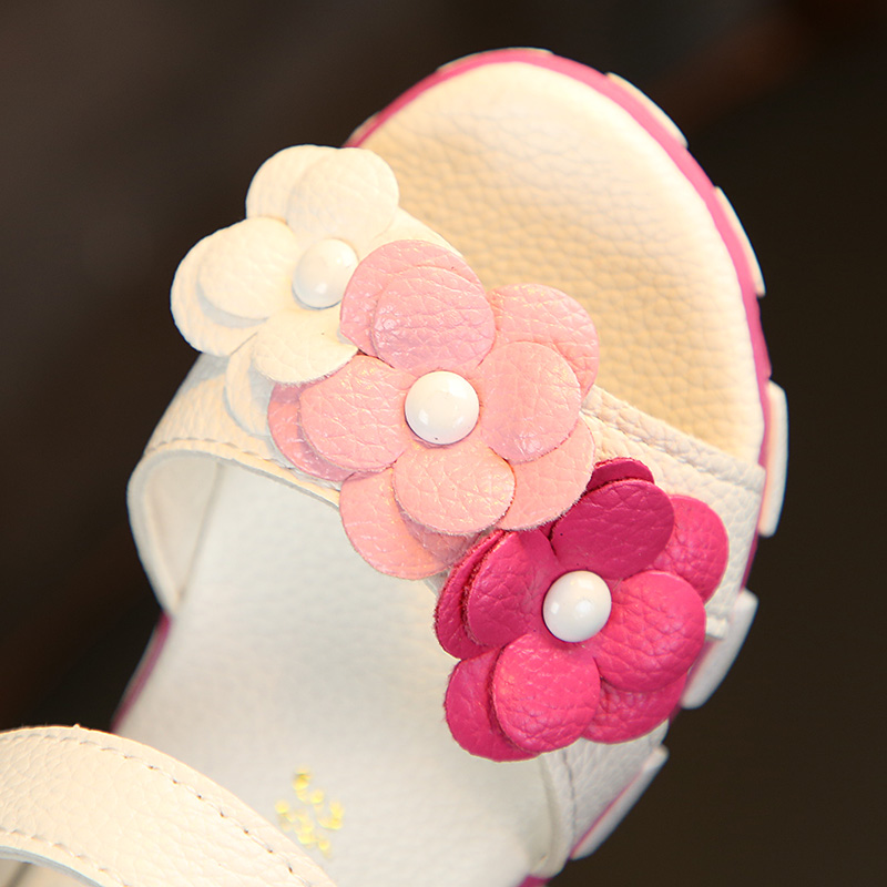 2018凉鞋宝宝鞋防滑软底花朵公主鞋儿童女鞋1-3岁夏季新款学步鞋