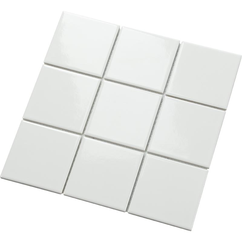 小白砖宜家格子卫生间瓷砖北欧厨房墙贴哑光粉釉面砖浴室阳台地砖