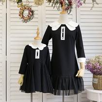 新款亲子装秋装卫衣运动套装全家装潮母女秋冬母子装一家三口