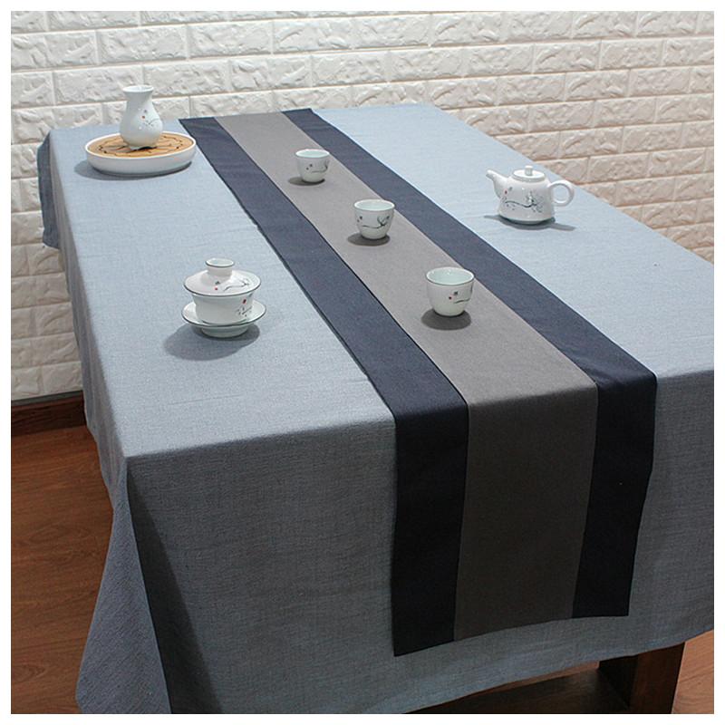 茶席中式禅意桌旗复古茶旗日式茶帘茶垫棉麻茶台布长条茶巾垫简约