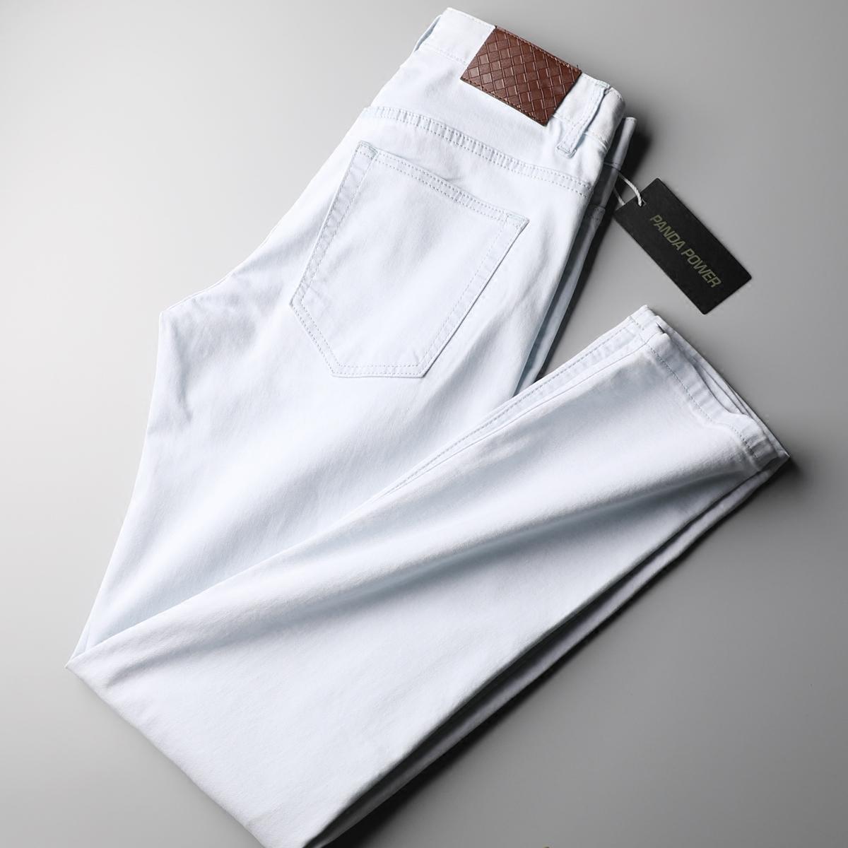 魅力浅色水洗牛仔裤男舒适弹力好穿棉质透气男士直筒修身牛仔裤