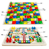 Flying Chess, Snake Chess, Two-in-One Game, Chess Thought Training Toy Kindergarten