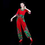 Yangge clothing costumes 2019 new summer national style dance costume fan dance square dance set female adult