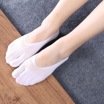 两趾袜隐形二分趾船袜二指丝袜女日本COS五指丝袜防掉跟浅口夏季