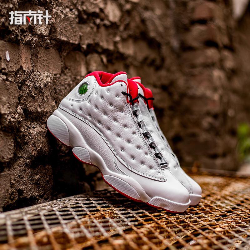 指南针AIR JORDAN 13 HISTORY HOF AJ13白红 篮球鞋男 414571-103