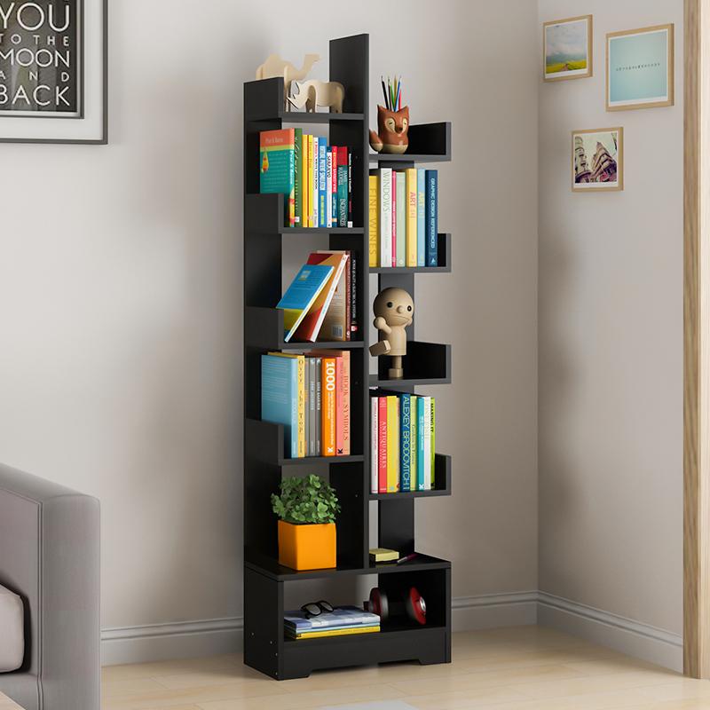树形书架书柜落地置物架简约现代家用儿童创意收纳架简易学生书橱