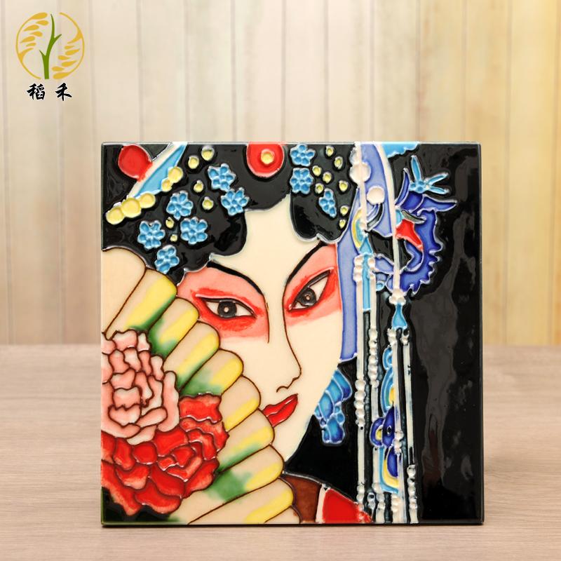 手绘瓷板画挂画陶瓷