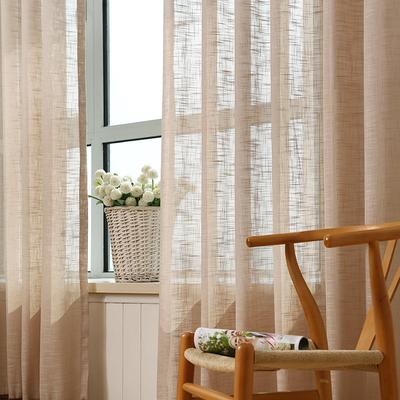 简约现代特价清仓成品窗帘白色亚麻纱帘客厅落地窗窗纱阳台纱布料
